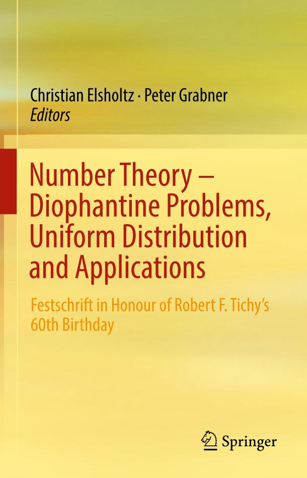Number Theory – Diophantine Problems, Uniform Distribution and Applications
