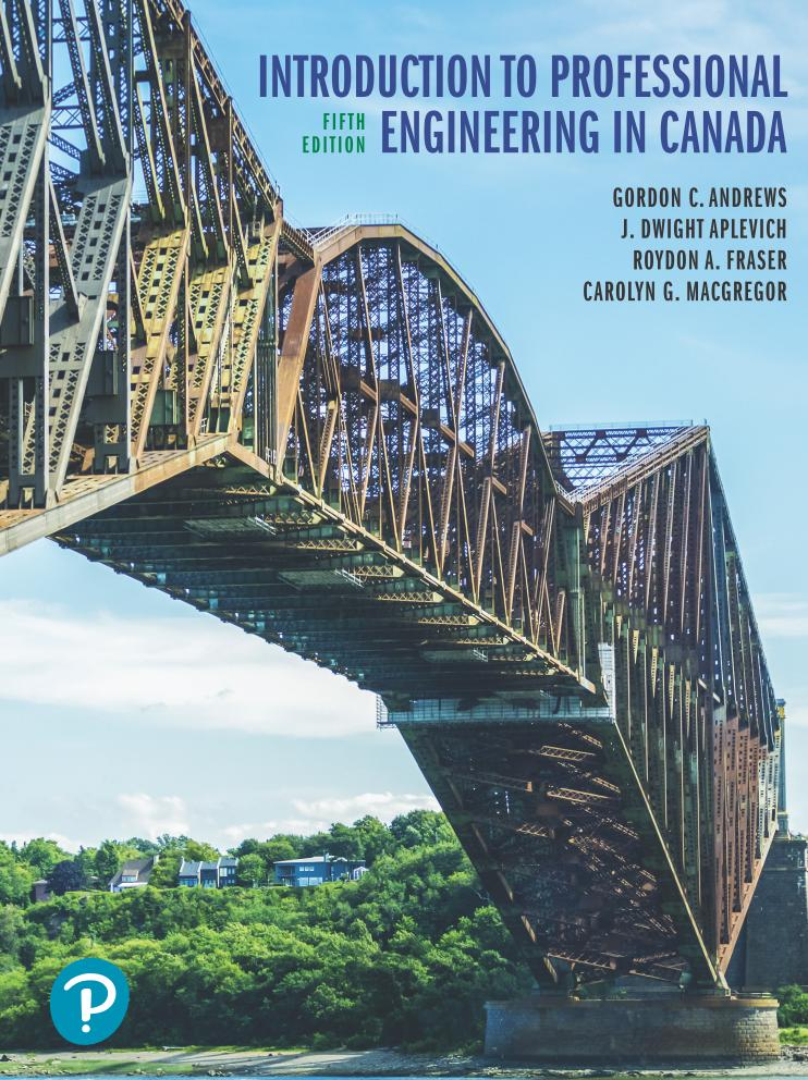 Introduction to Professional Engineering in Canada (5th Edition)