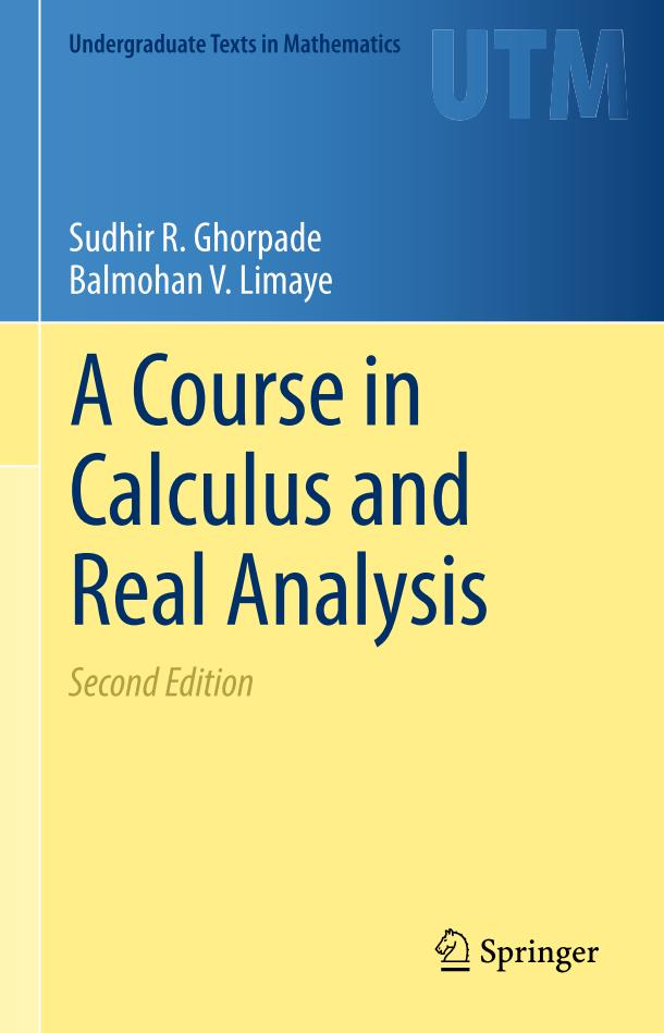 A Course in Calculus and Real Analysis (2nd Edition)