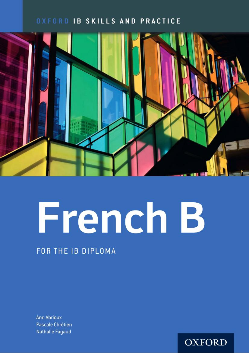 French B  – For the IB Diploma – 扫描版
