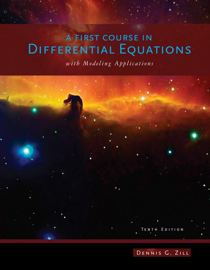 A First Course in Differential Equations with Modeling Applications (10th Edition)