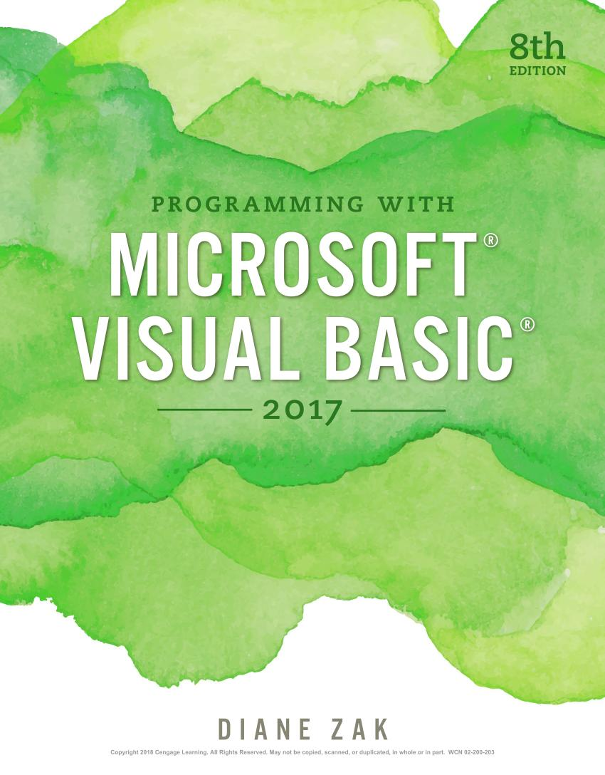 Programming with Microsoft Visual Basic 2017 (8th Edition)