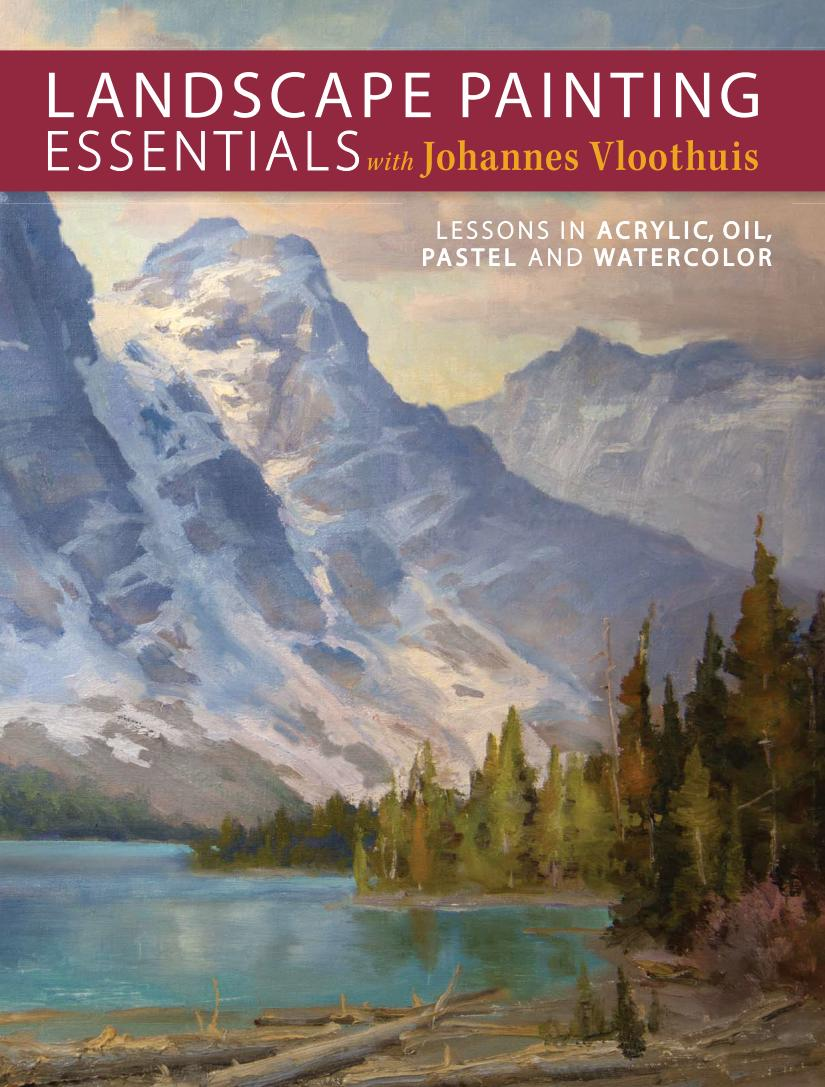 Landscape Painting Essentials with Johannes Vloothuis – Lessons in Acrylic, Oil Pastel and Watercolor