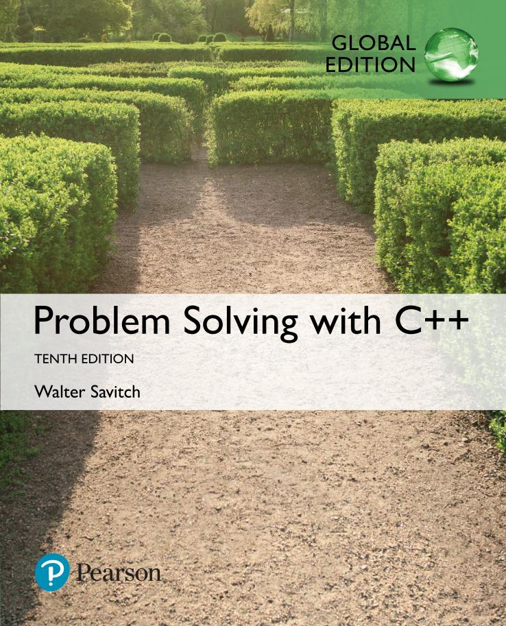 Problem Solving with C++ (Global Edition, 10th)