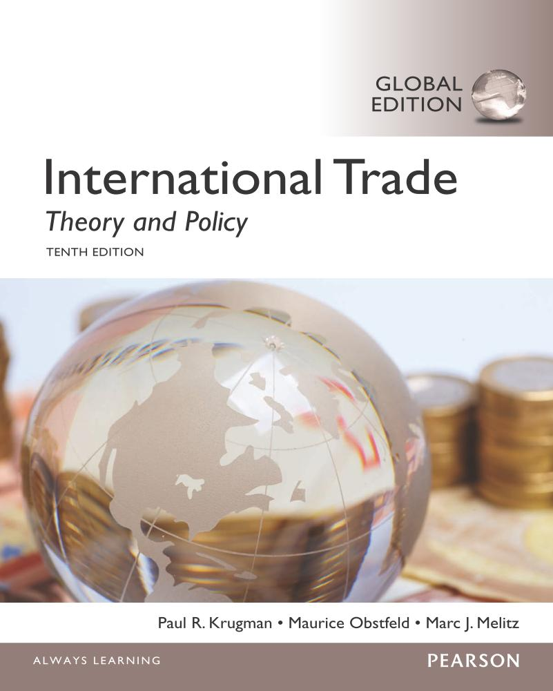 International Trade – Theory and Policy (Global Edition, 10th)