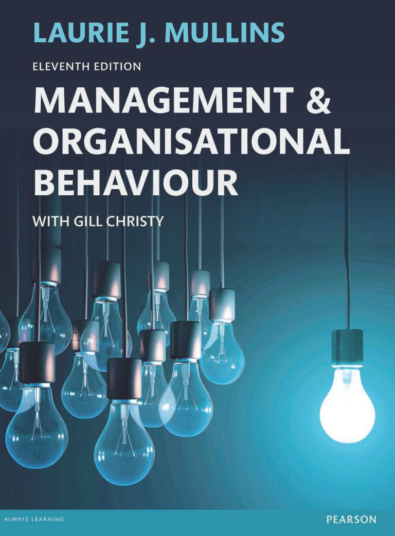 Management and Organisational Behaviour (11th Edition)