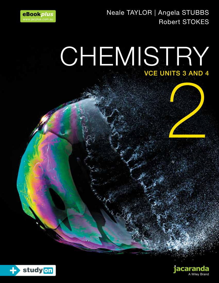Chemistry 2 – VCE Units 3 and 4