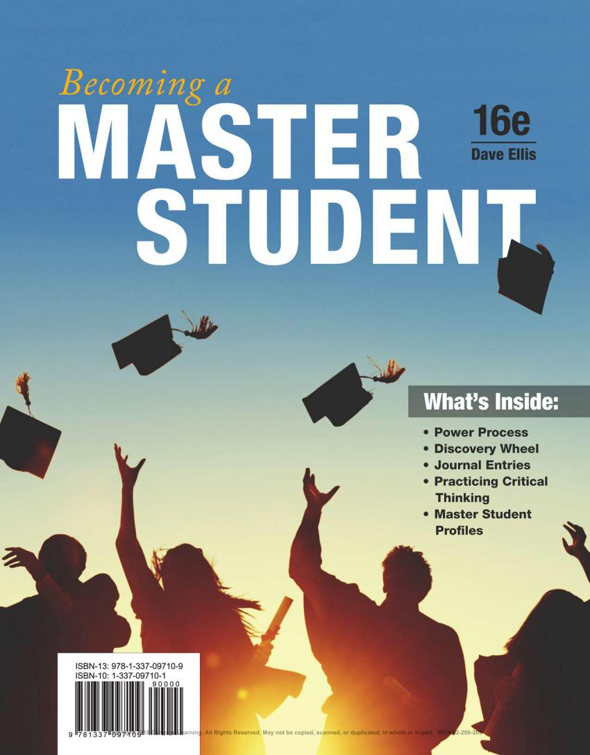 Becoming a Master Student (16th Edition)
