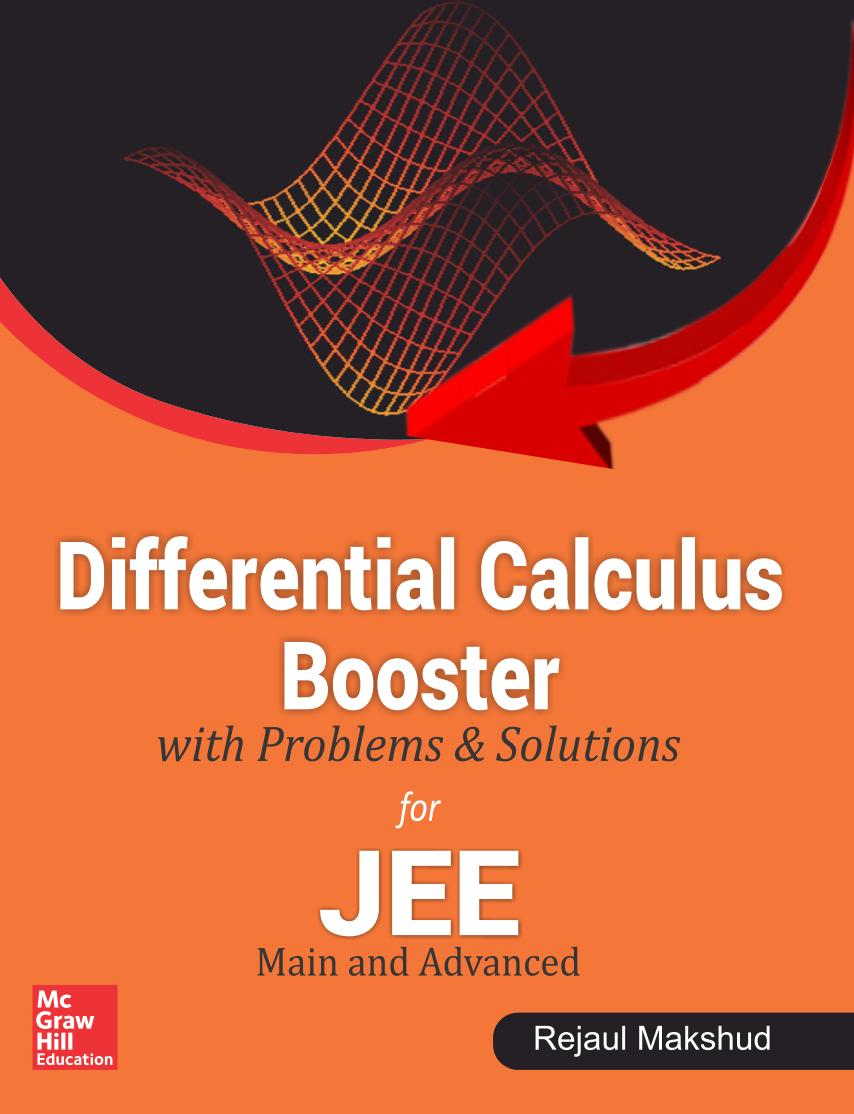 Differential Calculus Booster with Problems and Solutions JEE – Main and Advanced