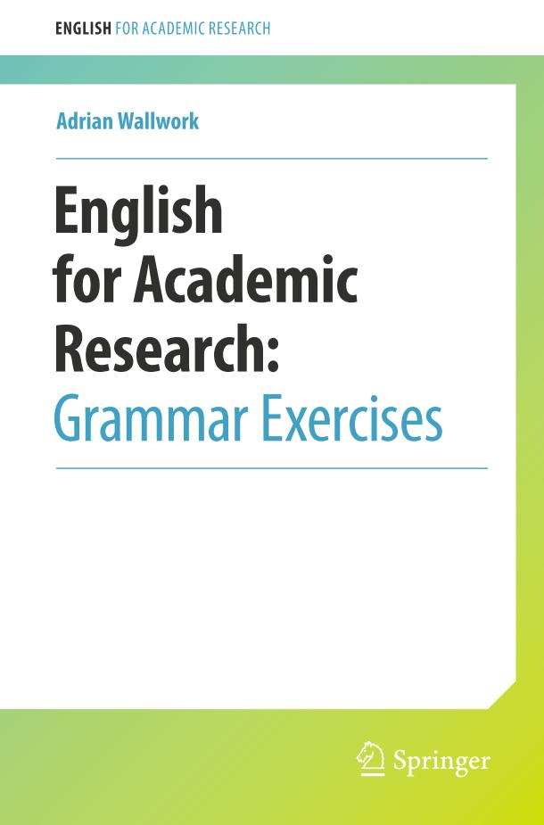 English for Academic Research – Grammar Exercises