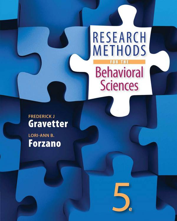 Research Methods for the Behavioral Sciences (5th Edition)
