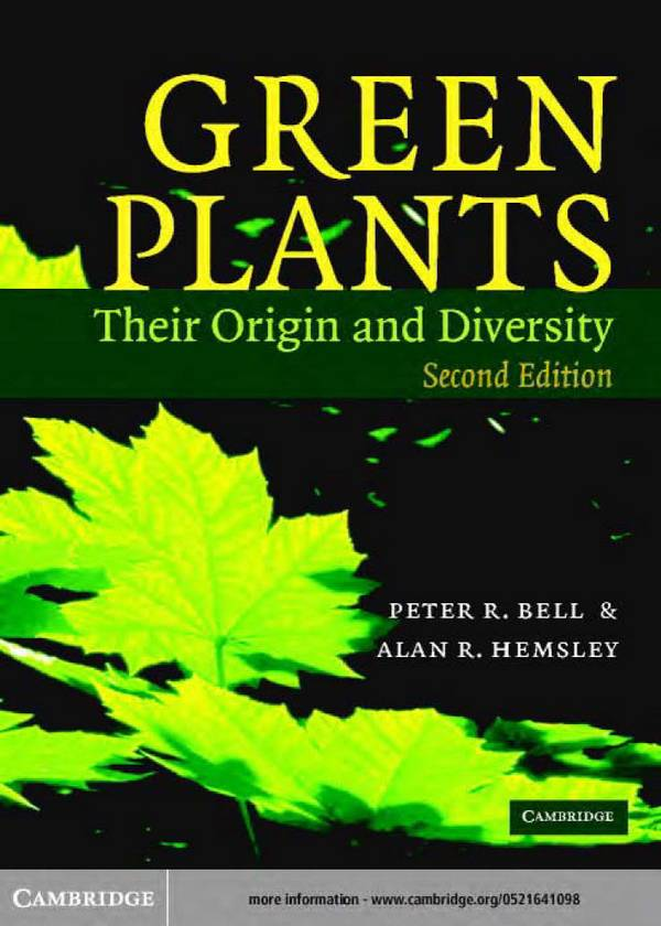 Green Plants – Their Origin and Diversity (2nd Edition)