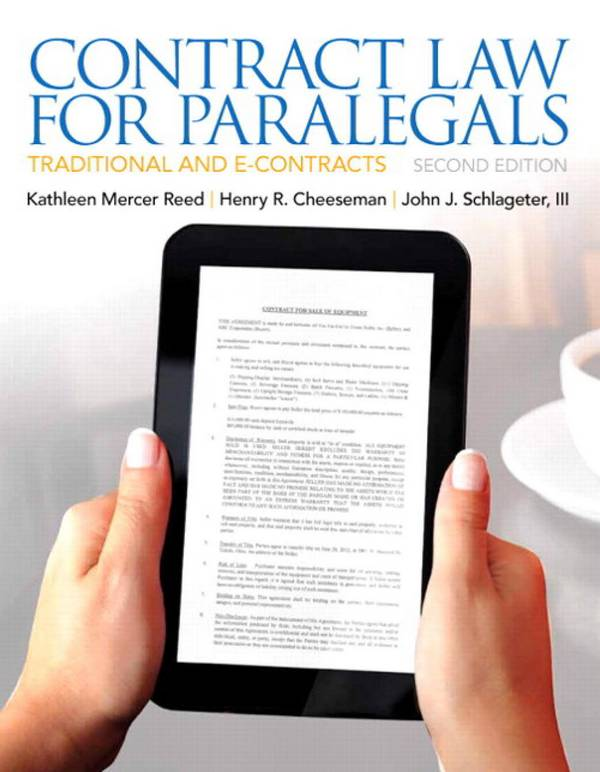 Contract Law for Paralegals – Traditional and E-Contracts (2nd Edition)