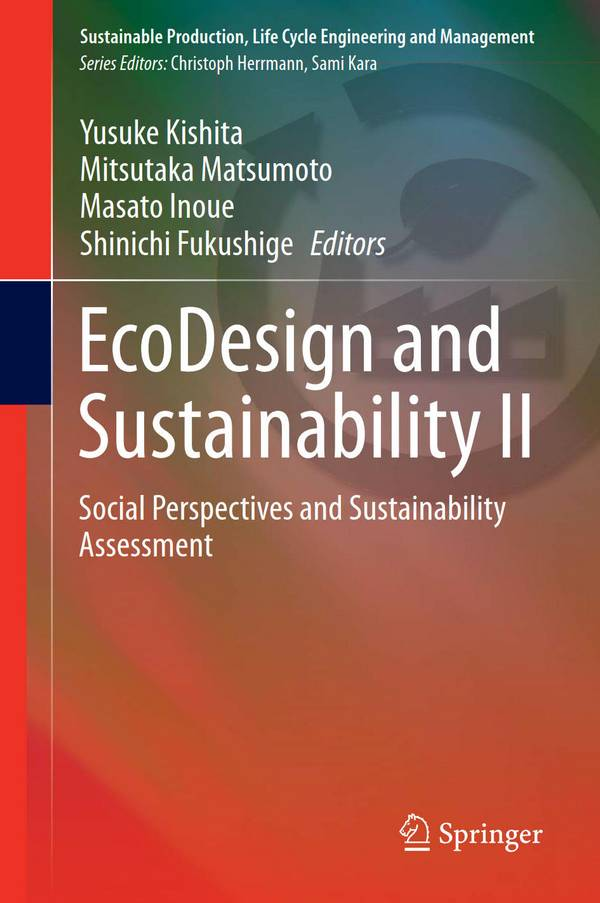 EcoDesign and Sustainability II - Social Perspectives and Sustainability Assessment
