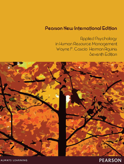 Applied Psychology in Human Resource Management (7th Pearson New International Edition)