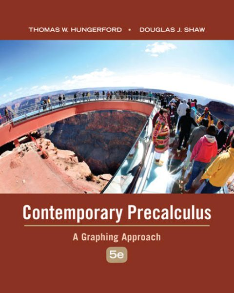 Contemporary Precalculus - A Graphing Approach (5th Edition)