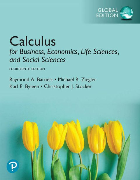 Calculus for Business, Economics, Life Sciences, and Social Sciences (14th Global Edition)