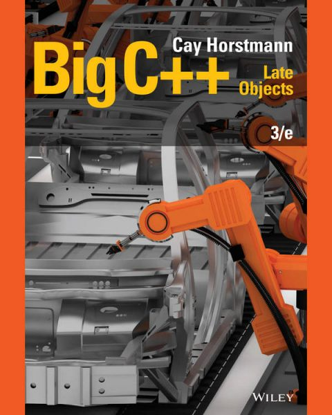Big C++ - Late Objects (3rd Edition)